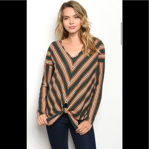 Tops - Green and Orange Sweater